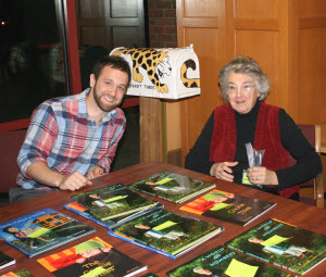 Ben Quesnel and Frances Gilbert at Jan 13th, 2013 Book Signing